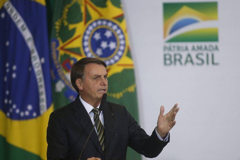 O presidente Jair Bolsonaro durante cerimônia que marcou os 300 dias de seu governo – Lúcio Távora/Xinhua